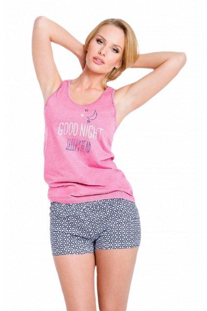 Pohodlné dámské bavlněné pyžamo Taro Marina.