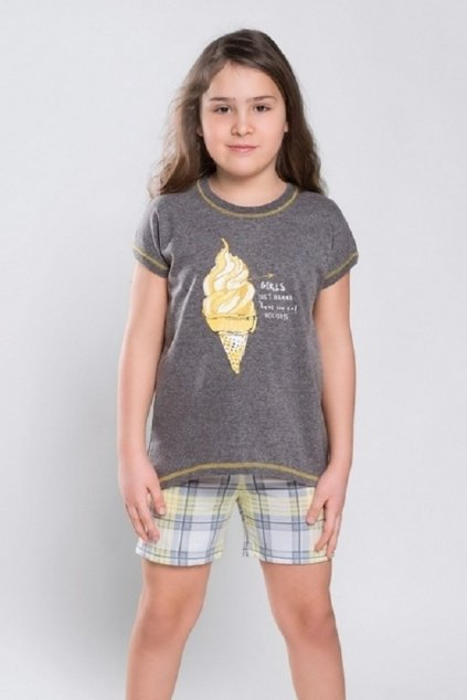 Dívčí pyžamo Italian Fashion Walia žlutá