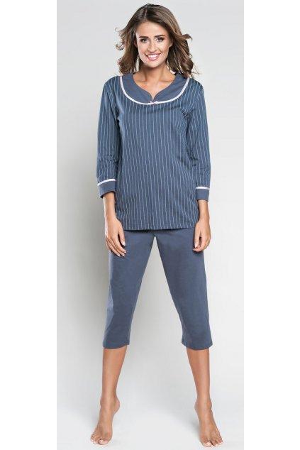 Dámské pyžamo Italian Fashion Lidia 3/4 Grafit