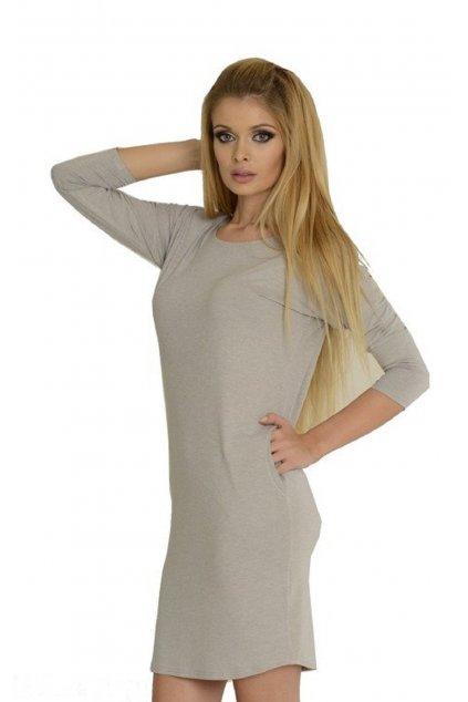 Dámské šedé šaty/ tunika De Lafense 543 Paula