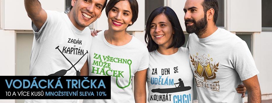 Vodácká trička množstevní sleva 10 a více kusů sleva 10% !
