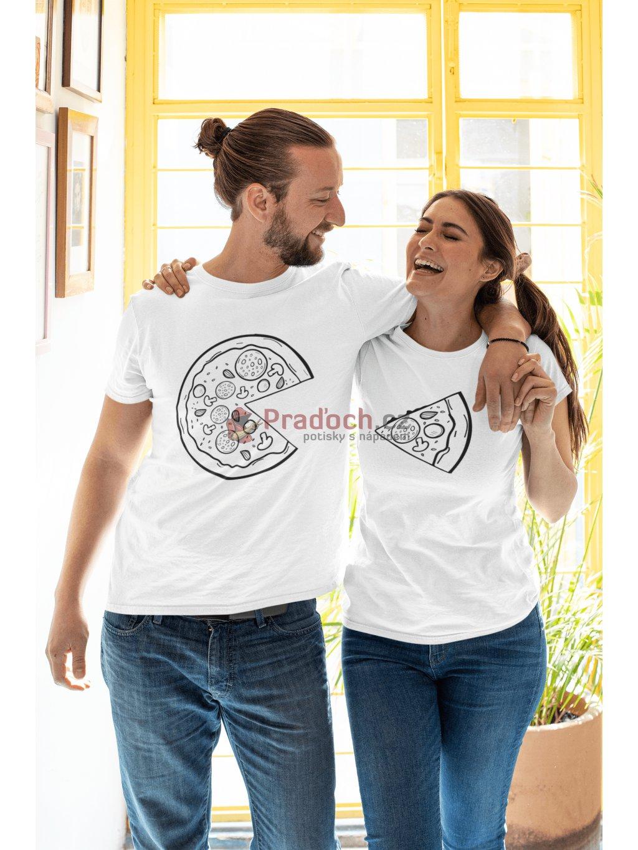 Trička pro páry Pizza