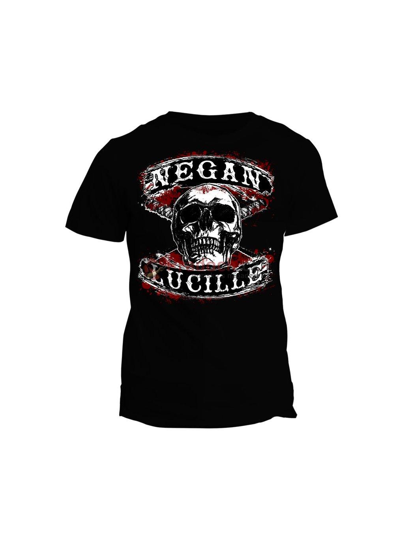 Tričko The Walking Dead - Negan Lucille skull
