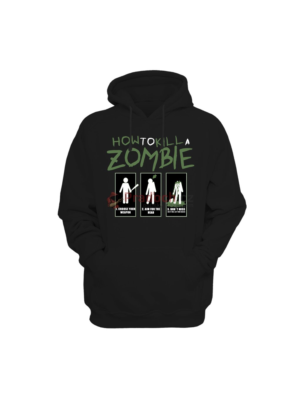 Dámská mikina The Walking How to kill a zombie - Pradoch.cz 497ffe0a53