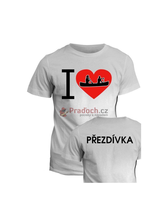 Vodácké tričko I love (1)