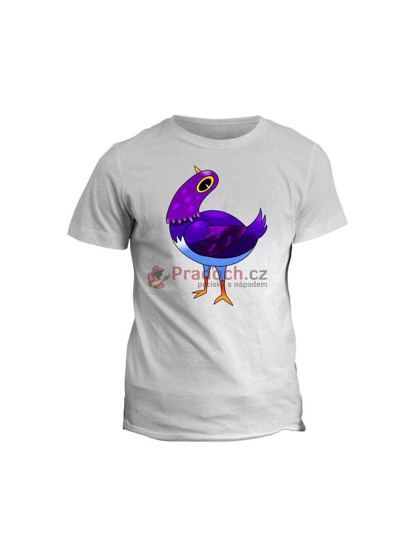 Tričko s potiskem Fialovej pták