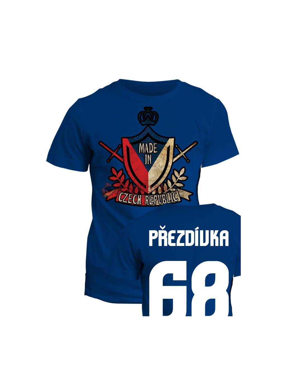 Tričko s potiskem Made in Czech Republic heraldic