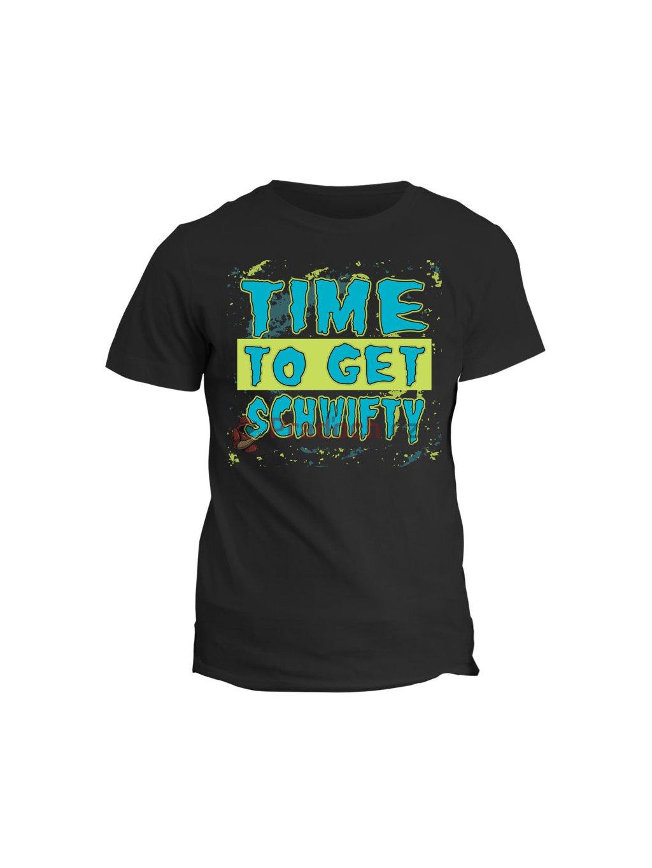 Tričko s potiskem Rick and Morty Time to get schwifty