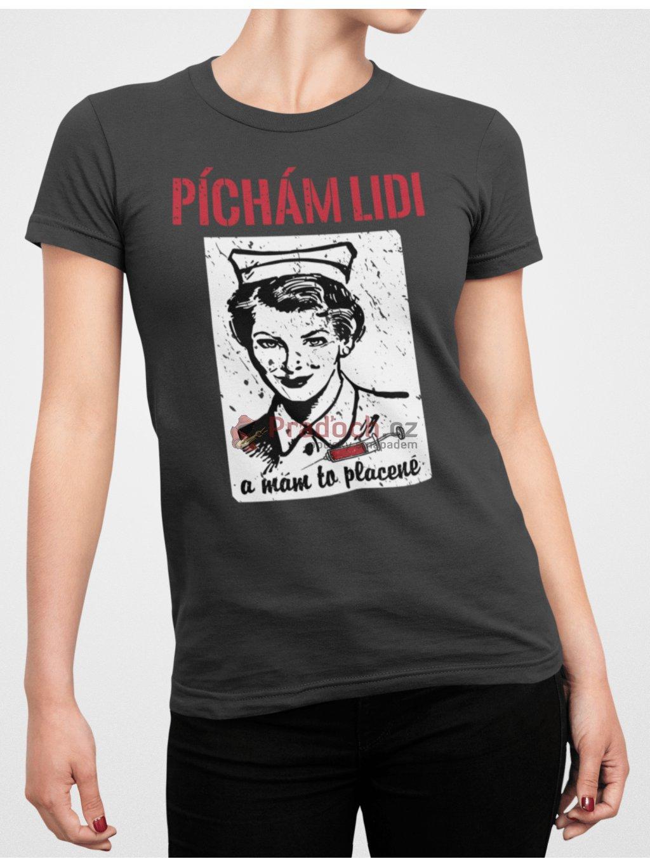 zdravotni sestra cerne triko min