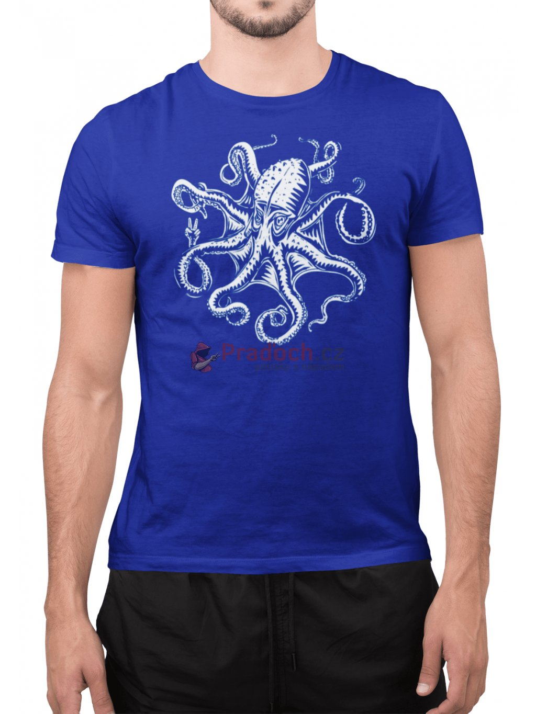 octopus modre tricko min