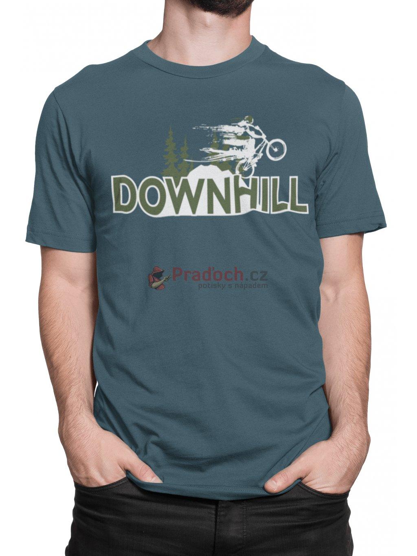 downhill petrolejove tricko min