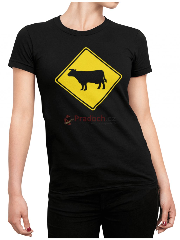 Krava cerne tricko min
