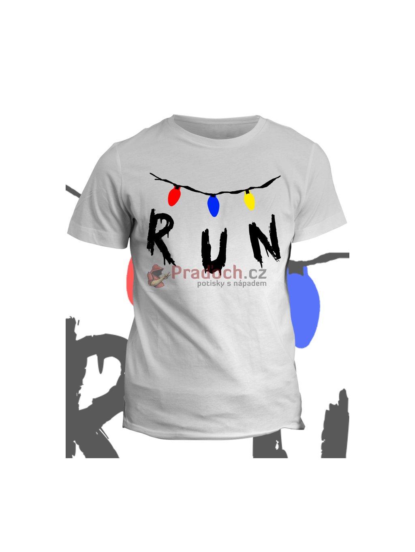 Tričko Stranger Things Run (pánské, emerald, S) - KR1