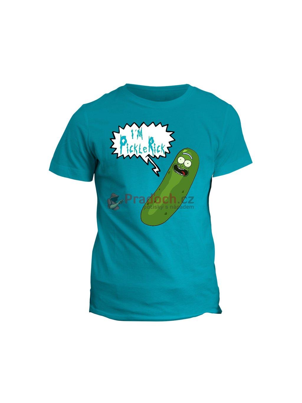 Tričko s potiskem Rick and Morty Pickle Rick (pánské, bílé, L) -KR1