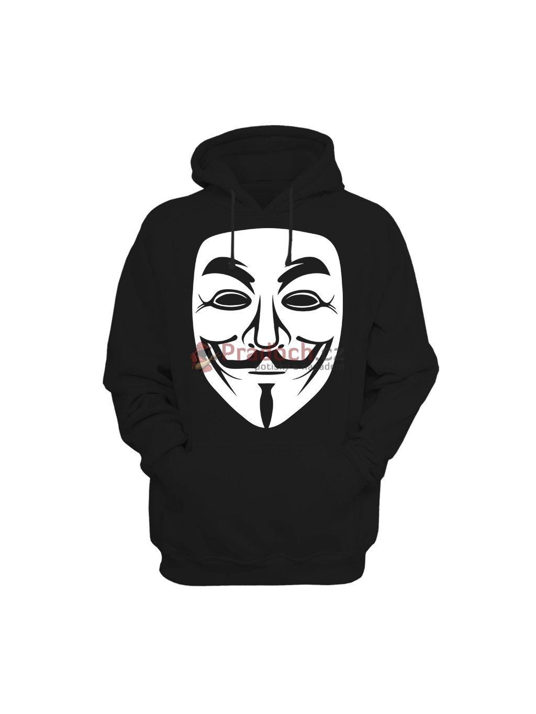 Mikina Anonymous (pánská, černá, L) - KR1