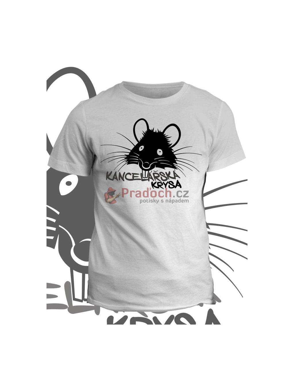 Profesní tričko Kancelářská krysa (pánské, bílé, L) - KR2