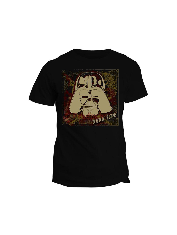 Tričko s potiskem Star Wars Dark Side (dětské, černé, 12let) - KR1