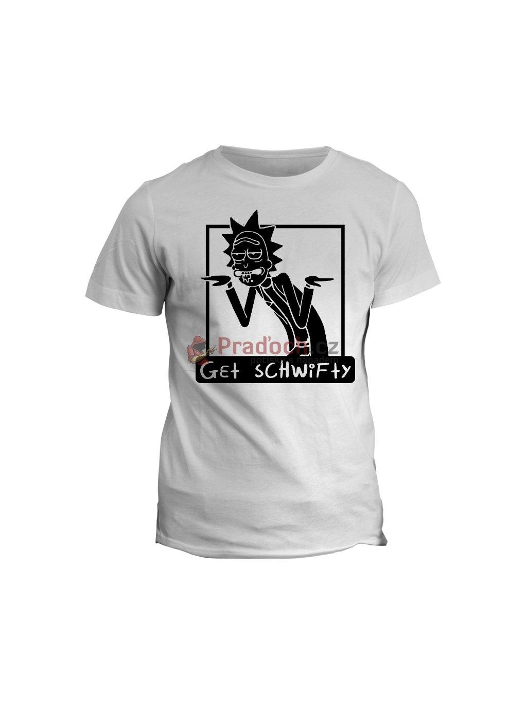 Tričko s potiskem Rick and Morty Schwifty 2 (pánské, bílé, XL) - KR2
