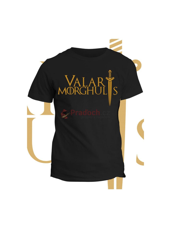 Tričko Game of Thrones - Valar Morghulis (pánské, černé, 5XL) - KR2