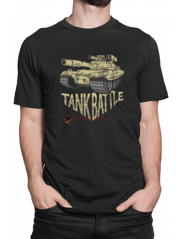 battle tank cerne triko