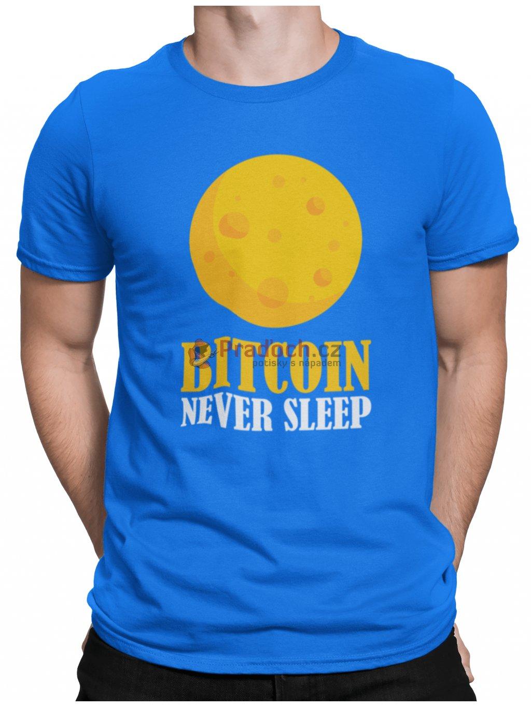 bitcoin never sleep modre tricko min