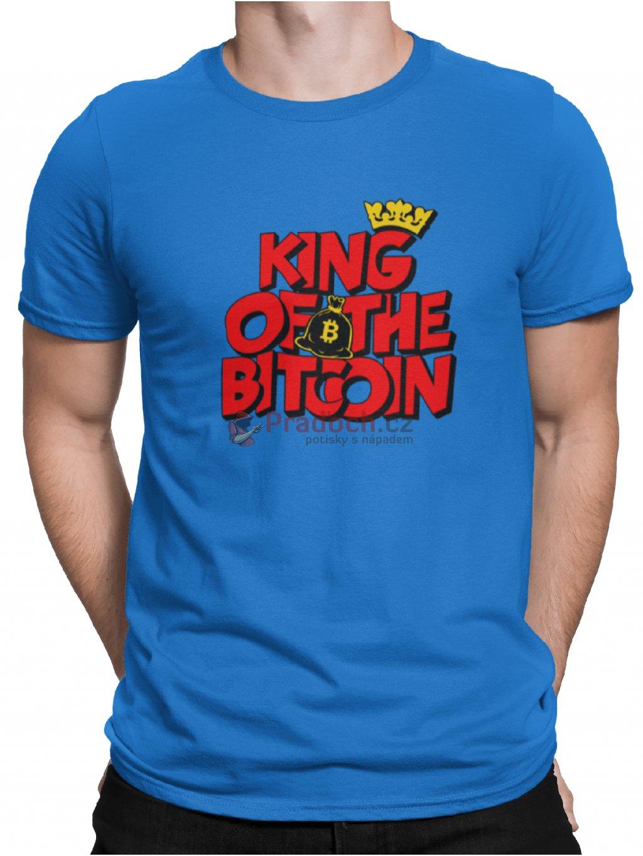 king of bitcoin modre tricko min