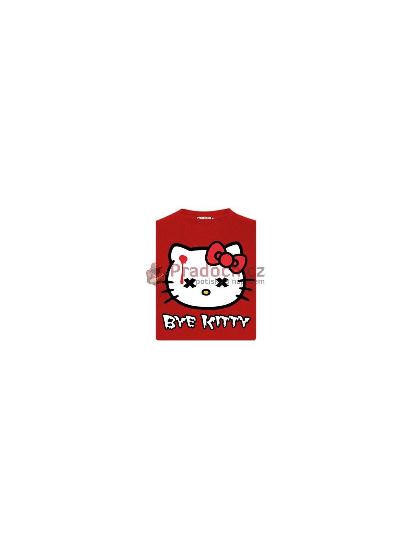 Tričko s potiskem Bye Kitty