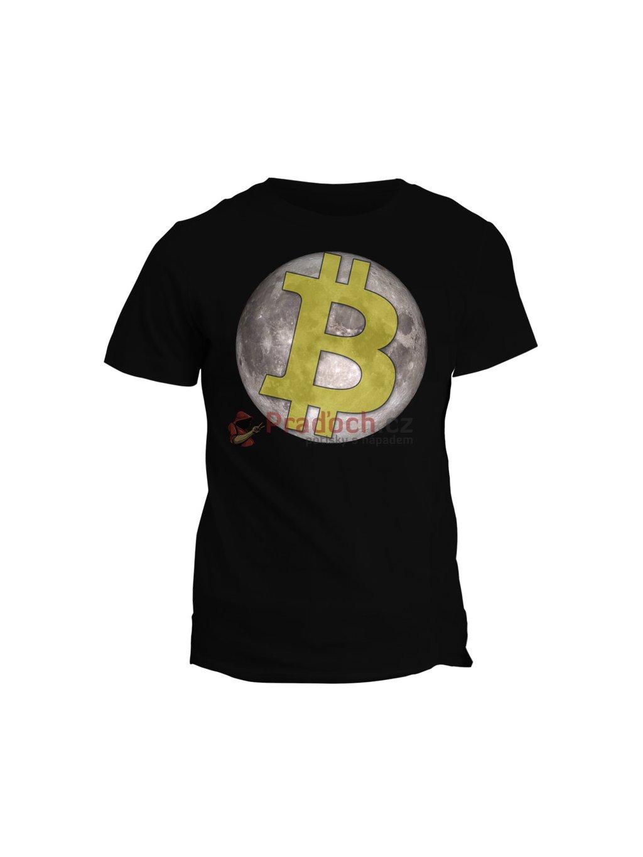 Tričko s potiskem Bitcoin to the Moon