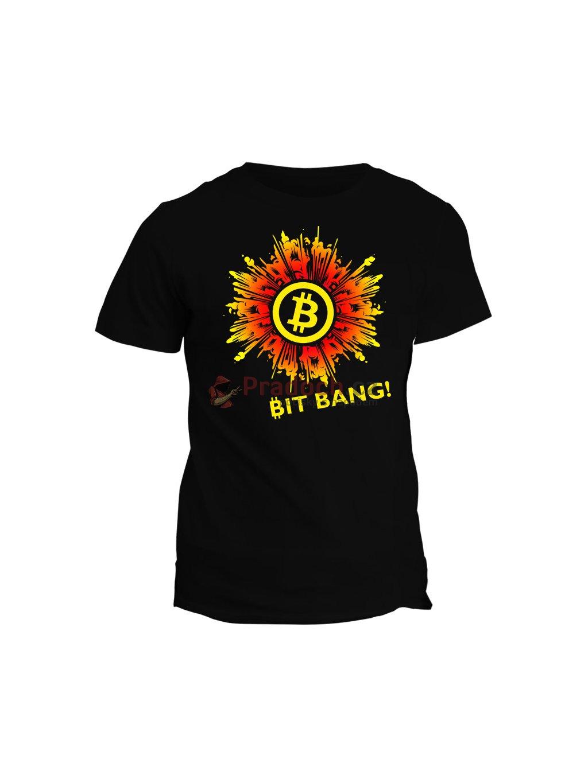 Tričko s potiskem Bitcoin Bit Bang!