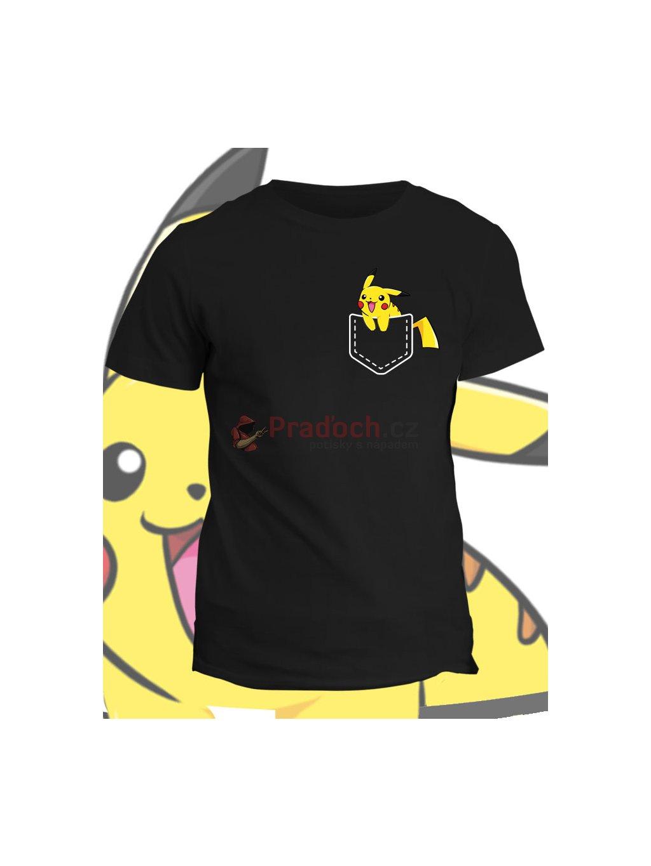 Tričko s potiskem Kapesní Pikachu