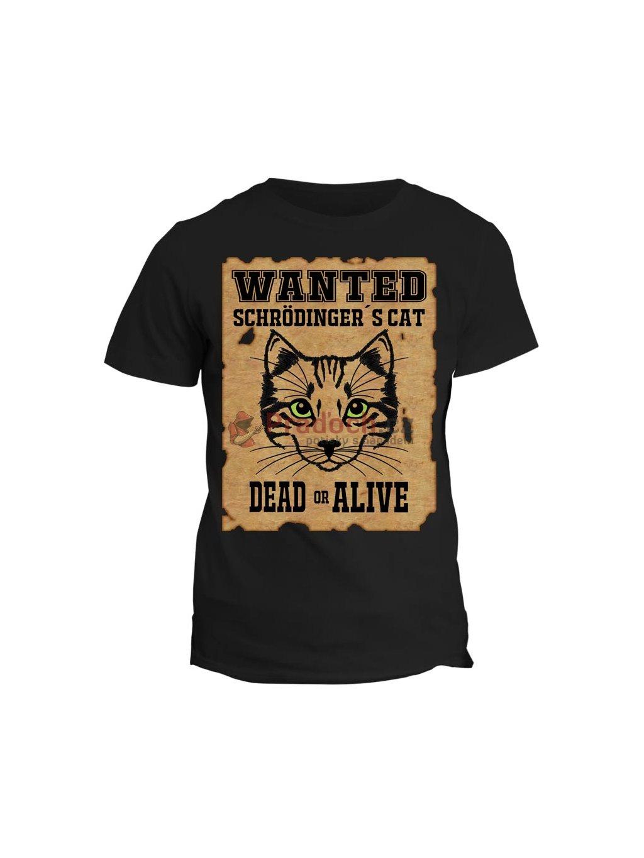 Tričko s potiskem Schrödinger´s cat