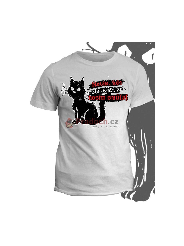 Tričko s potiskem Nebohá kočička