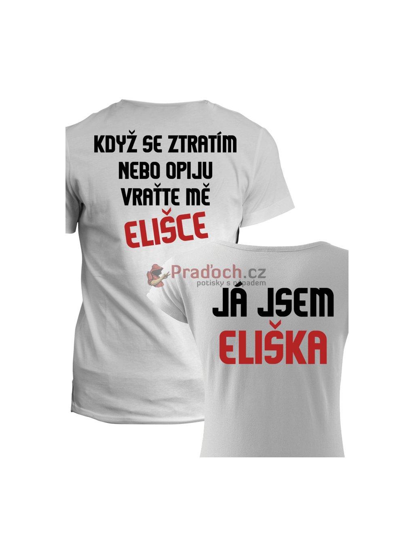 55a9d2ec1 Trička pro páry Když se ztratím - Pradoch.cz