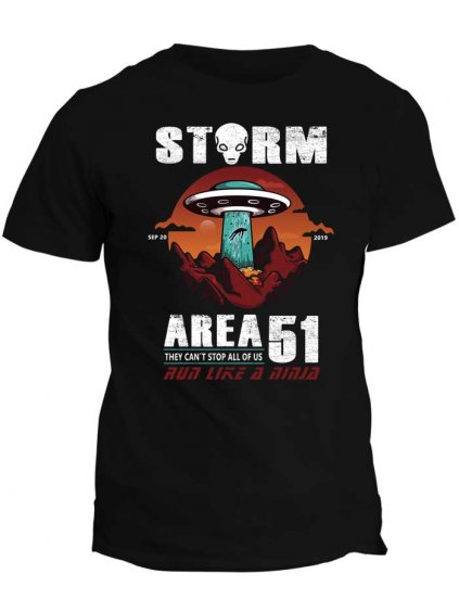 Tričko s potiskem AREA 51