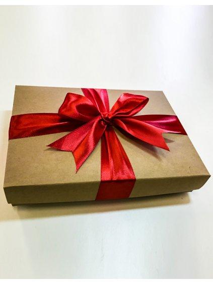 Dárkové balení - krabička s červenou mašlí