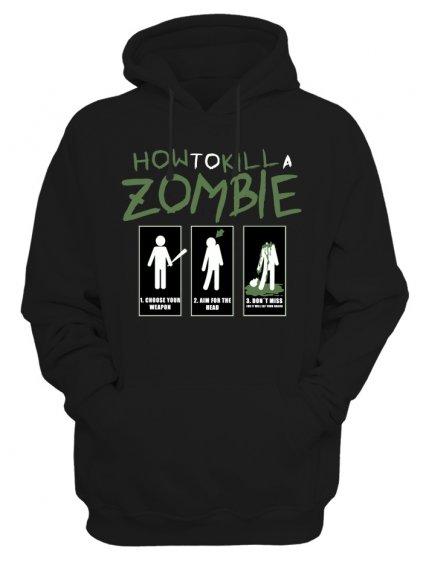 Pánská mikina The Walking Dead How to kill a zombie