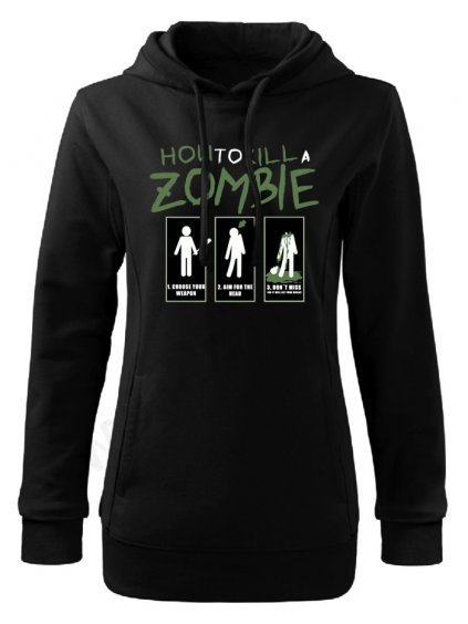 Dámská mikina The Walking How to kill a zombie