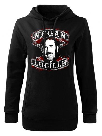 Dámská mikina The Walking Negan Lucille face