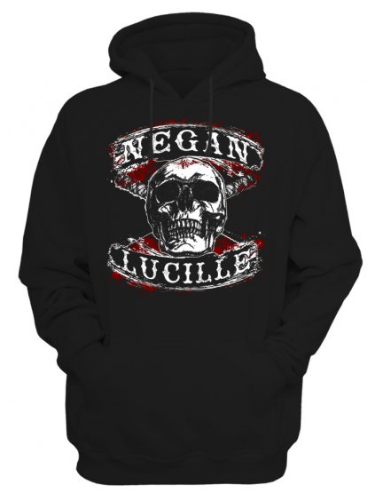 Pánská mikina The Walking Dead Negan Lucille skull