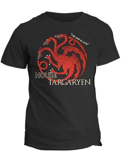 Tričko Game of Thrones - House Targaryen