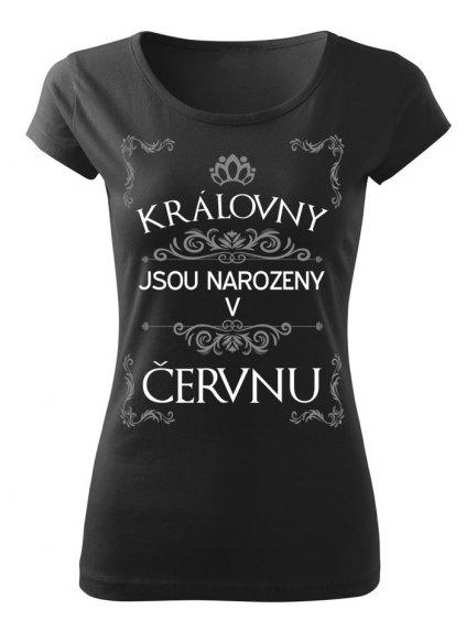 Tričko s potiskem Královny jsou narozeny v PROSINCI (dámské, černé, XL) - KR1