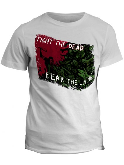 Tričko The Walking Dead - Fight the dead (dámské, černé, L) - KR2