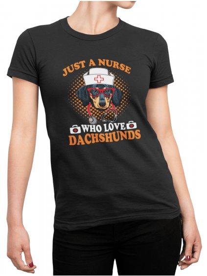 dachshunds nurse cerne tricko min