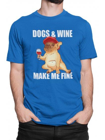 dogs and wine modre tricko min