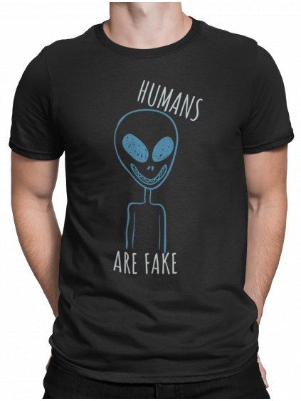 humans are Fake cerne triko min