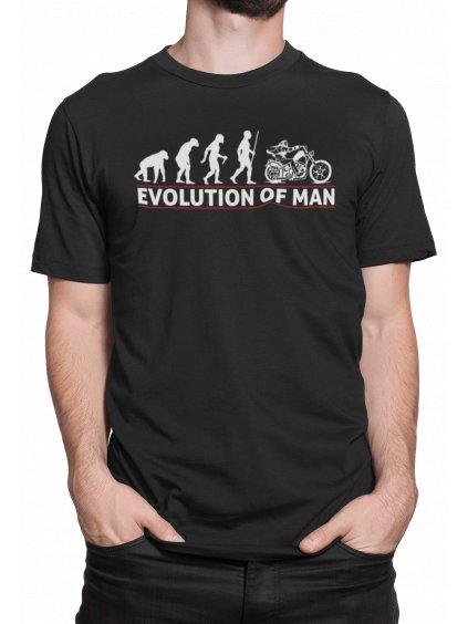 Evolution of man cerne triko