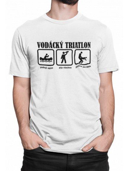 vodacky triatlon bile triko