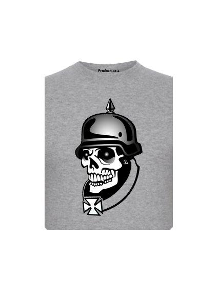 Tričko s potiskem Nazi Skeleton