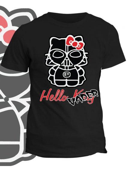 Tričko s potiskem Hello Vader