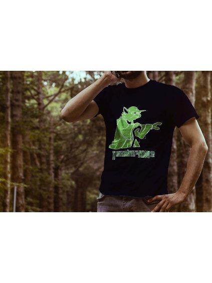 Tričko s potiskem Yoda Moudro